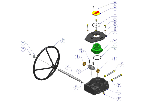 Cast Iron Hand Wheel Operated Gear Box