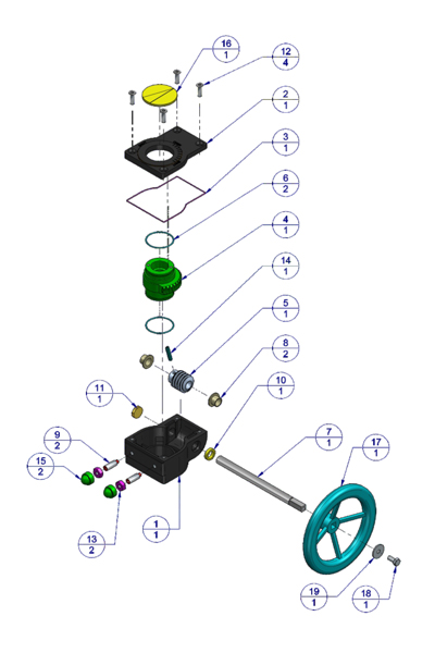 #alt_tagHand Wheel Operated Gear Box 2