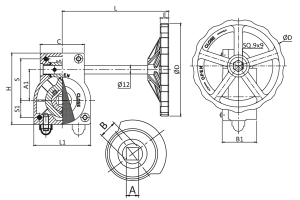 #alt_tagHand Wheel Operated Gear Box 3