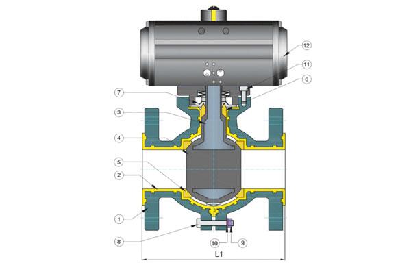 fep pfa lined valve manufacturers