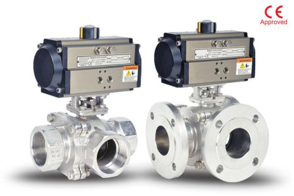 cw series 3 way ball valves