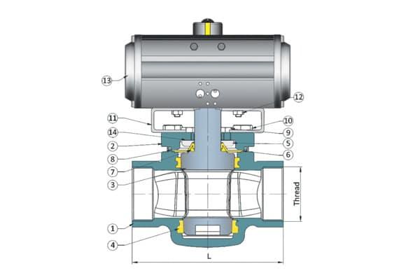 screwed plug valve