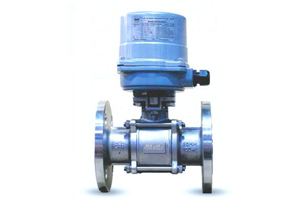 motorized 2 way ball valve flanged end 12v
